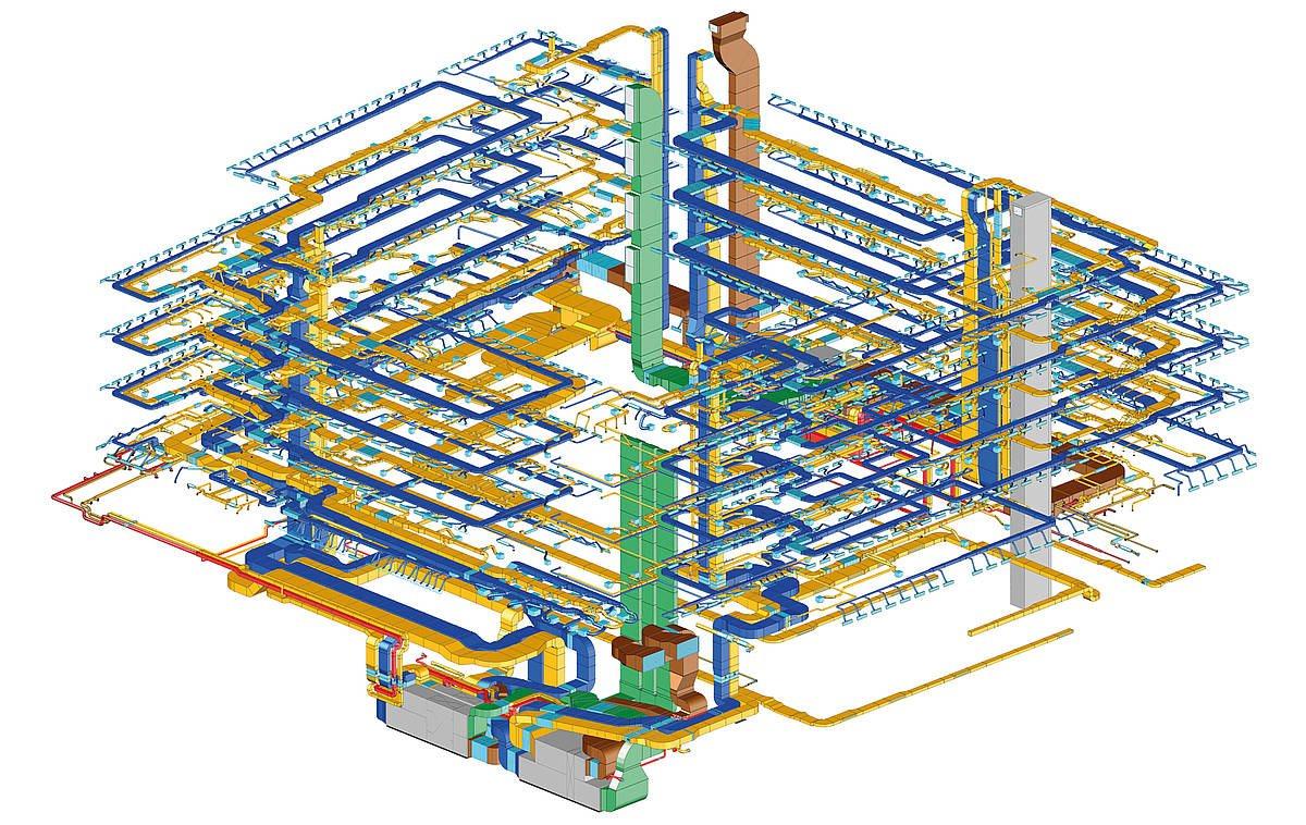 Lüftung Konstruktion 3D, ZW Plan