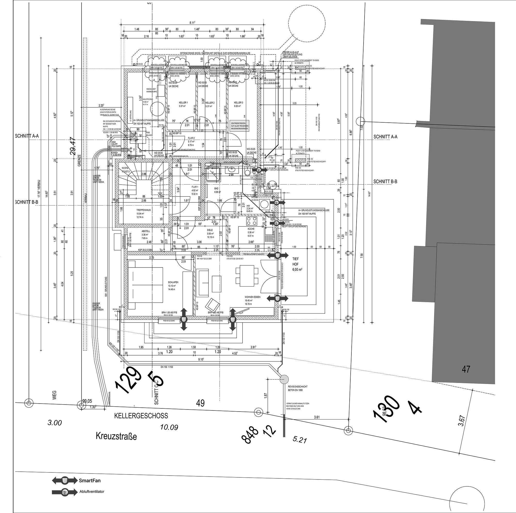 TGA Planung, ZW Plan